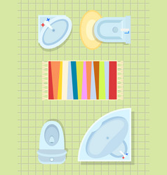 bathroom interior decor on vector image