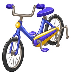 Bicycle with blue frame vector