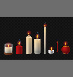 Burning candles - realistic isolated clip vector