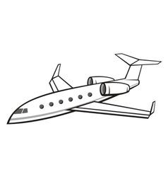 Business jet vector