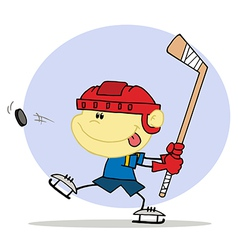 Cartoon Hockey player vector image vector image
