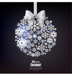 Christmas ball made from snowflakes Christmas vector image vector image