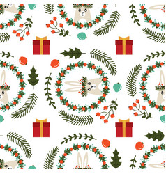 christmas seamless pattern with the image of a vector image vector image