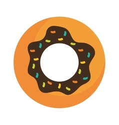 Donut icon sweet food design graphic vector