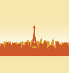 france silhouette architecture buildings town city vector image vector image