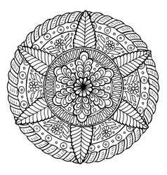 hand drawn mandala vector image vector image