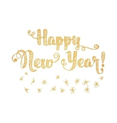 Happy new year embroidery style vector
