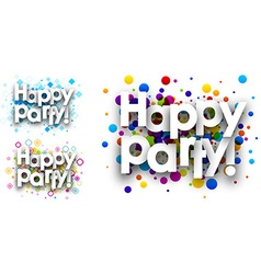 Happy party colour backgrounds vector image