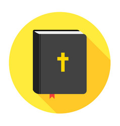 Holy bible book icon flat vector