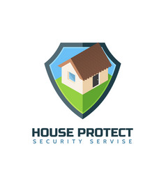 Home protection isolated logo template vector