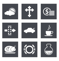 Icons for web design set 31 vector
