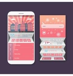 Mobile user ui kit form interface for web vector