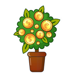 Money tree icon flat style vector