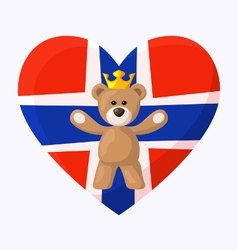 Norwegian Royal Teddy Bear vector image vector image