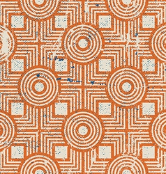Old geometric seamless pattern vintage repeat vector image vector image