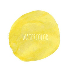 Pastel watercolor blob vector