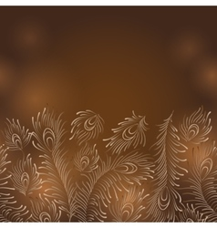 Peacock Feathers - Horisontal Seamless vector image