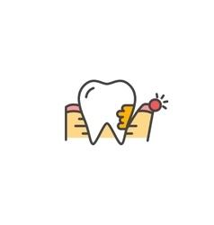 Periodontitis icon vector