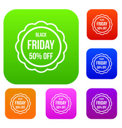 sale sticker 50 percent off set collection vector image vector image