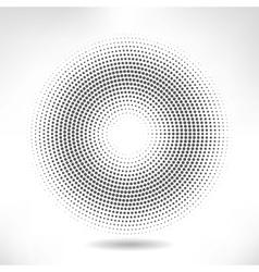 silver circle of halftone vector image