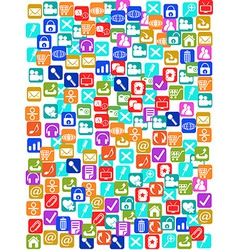 social media icons seamless pattern background vector image