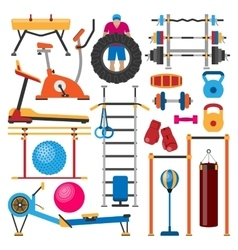 Sport gym equipment vector