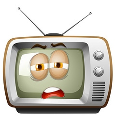 Television with sleepy face vector