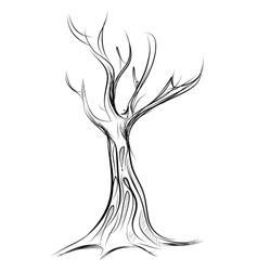 Tree cartoon icon isolated on white vector image