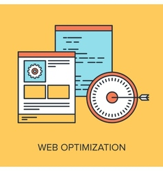 Web Optimization vector image vector image