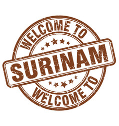 Welcome to surinam vector