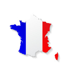 France flag map with shadow effect vector