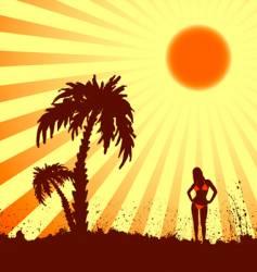 hot summer vector image