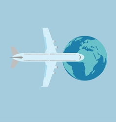 Aircraft flat design vector