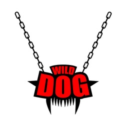 Necklace Wild dog emblem for gangs of hooligans vector image