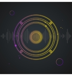 Music background colorful outline loudspeaker vector