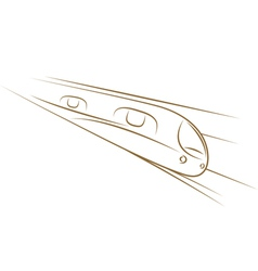 high-speed train sketch vector image