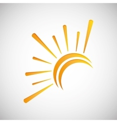 Sun design abstract icon summer concept vector