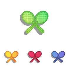 Tennis racquets sign colorfull applique icons set vector