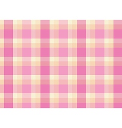 A topview of a pink checkered floormat vector image