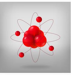 Abstract molecules atoms 3d vector