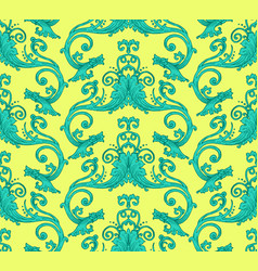 Antique victorian seamless pattern vector