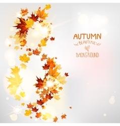 Autumn swirl of leaves vector