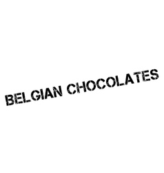 Belgian chocolates rubber stamp vector