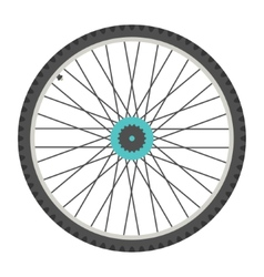 bicycle wheel in flat style vector image vector image