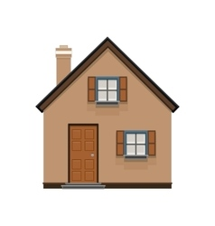 brown house icon isolated on white background vector image vector image