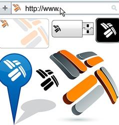 Business propeller abstract logo design vector