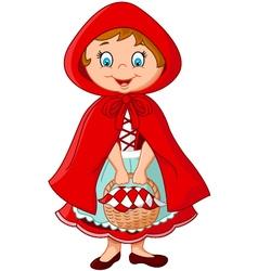 Cartoon fairy princess with robe vector