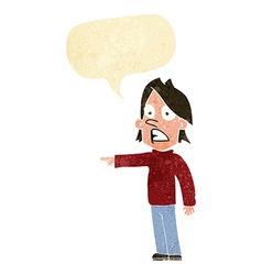 Cartoon surprised man with speech bubble vector