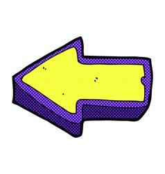 Comic cartoon arrow symbol vector