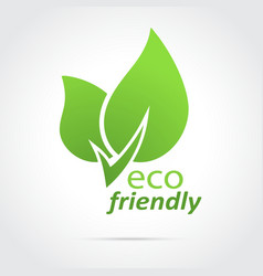 Eco friendly icon green leaves vector image
